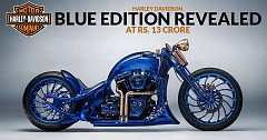 Harley-Davidson Blue Edition Revealed At Rs. 12 Crore