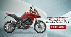 Ducati Multistrada 950 Now Available with Aluminium Panniers Worth INR 1.95 Lakhs
