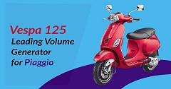 Vespa 125, Leading Volume Generator for Piaggio