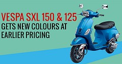 Vespa SXL 150 and 125 gets New Colours at Earlier Pricing