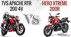 Hero Xtreme 200R vs TVS Apache RTR 200 4V: Comparison of Rivals