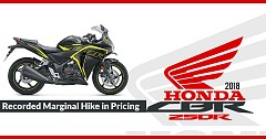 2018 Honda CBR 250R Recorded Marginal Hike in Pricing