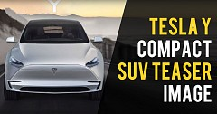 Tesla Model Y Compact SUV Teaser Image Out Again