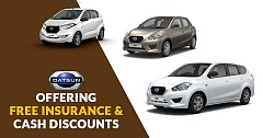 Datsun GO, Redi-GO, GO Plus Are Available With Free Insurance and Cash Discounts