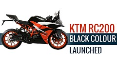 KTM RC200 Now Available in Black Colour Variant at INR 1.77 lakh