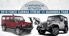 Comparison Between 2018 Force Gurkha Xtreme And Mahindra Thar