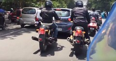 Royal Enfield 650 Twins, Continental GT and Interceptor Spied Testing in Chennai