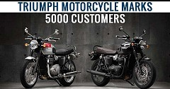 Triumph Motorcycle Achieves the Happy 5000 Customers Milestone