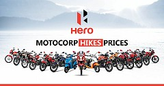 Hero MotoCorp Increases its Products Pricing in India