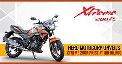2018 Hero Xtreme 200R Official Pricing Unveiled; Attract INR 88,000 Price Sticker