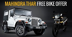 New Mahindra Thar CRDe 4x4 With A Free Bike Offer