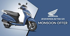 2018 Honda Activa 125 Comes with Monsoon Offer, Avail Now