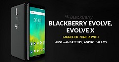 Blackberry Evolve and Evolve X Launched in India