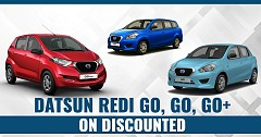 Get Datsun Redi Go, GO, GO+ On Discounted Price And Benefits