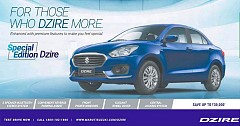 Maruti Suzuki Launches A Special Edition Of Dzire At Rs 5.56 Lakh