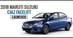 2018 Maruti Suzuki Ciaz Facelift Now Available At INR 8.19 lakh