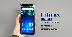 Infinix Note 5 Launched in India At A Starting Price  of Rs 9,999