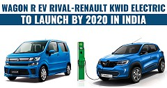 Wagon R EV Rival-Renault Kwid Electric To Launch By 2020 In India