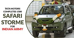 Tata Motors Completes 1500 Safari Storme GS800 4x4 SUV For Indian Army