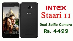 Intex Staari 11 Featuring Dual Front Cameras Launched in India