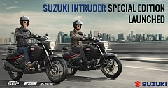 Suzuki Intruder SP Launched with Added Features; Priced at INR 1 lakh