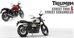 2019 Triumph Street Twin and Street Scrambler Exhibited at Intermot Show
