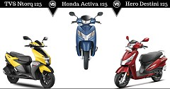 Hero Destini 125 Vs Honda Activa 125 Vs TVS NTorq 125: Comparison of Rivals