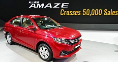 Honda Amaze Crosses 50,000 Sales Mark In Record Time