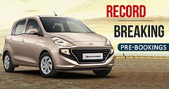 Record Breaking Pre-Bookings of New Hyundai Santro