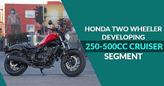 Honda Aims to Introduce Motorcycle in Niche (250-500cc) Cruiser Segment