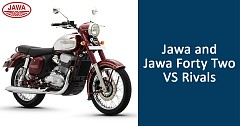 Price Based Comparison of Jawa and Jawa Forty Two Vs Rivals