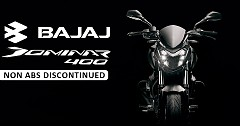 Bajaj Dominar 400 Non-ABS Retires Now ABS only Version Launch in March 2019