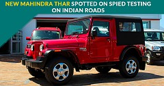 New Mahindra Thar Spotted While Testing on the Roads of India