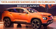 Tata Harrier showcased in Gurgaon before the official launch
