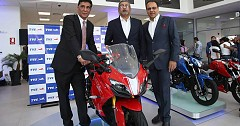 TVS Launches Premium Offerings Apache RR 310, RTR 160 4V, Ntorq 125 in Peru