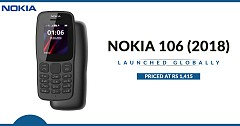 Nokia 106 (2018) Launched Globally, Priced at Rs 1,415 in Indian Market