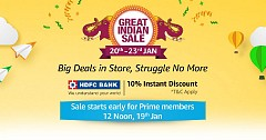 Amazon Great Indian Sale 2019 Starts From Jan 20 to 23 Jan