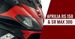 Aprilia RS 150 and SR Max 300 Spotted at Dealer Meet in Goa