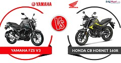 Yamaha FZS V3 Vs Honda CB Hornet 160R: On Paper Specs Comparison