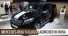 Mercedes-benz V-class Launched In India: Checkout The Price