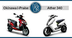 Quick Spec-Comparison: Okinawa i-Praise VS Ather 340, 450