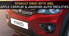 Renault Kwid Updated With ABS, Apple CarPlay & Android Auto Facilities