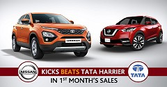 Nissan Kicks beats Tata Harrier in terms of 1st month's sales