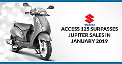 Access 125 Surpasses Jupiter in Y-o-Y Sales in January 2019