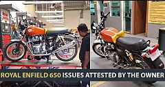 Royal Enfield 650 Issues Attested By The Owner Who Ridden Bike For 2 Months