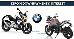Buy New BMW G310R and G310GS Bike at 0% Downpayment and Interest