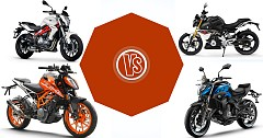 Comparison of The Rivals: CF Moto 400NK Vs KTM 390 Duke Vs BMW G 310 R Vs Benelli TNT 300