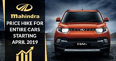 Mahindra Price Hike For Entire Portfolio From April 2019