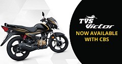TVS Victor CBS Launched with a Price Tag of INR 54,682
