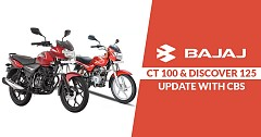 Bajaj Unveils CT 100 CBS and Discover 125 CBS Pricing